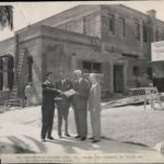 Founders discussing the construction of Payton Hall