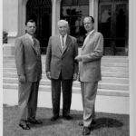 Ockenga, Fuller, and Edward John Carnell in front of Payton Hall