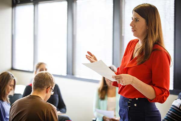 career-development-Fuller-Theological-Seminary-student-giving-presentation