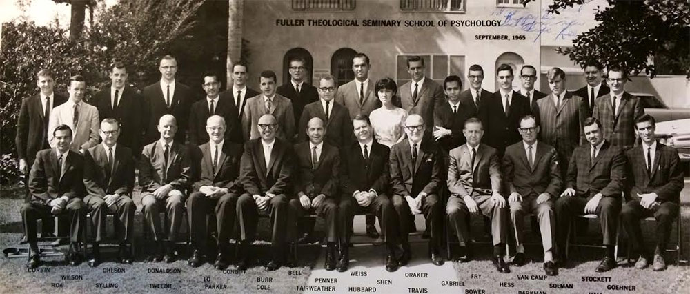The School of Psychology's inaugural class, in 1965
