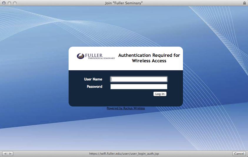 Wireless | Fuller Seminary