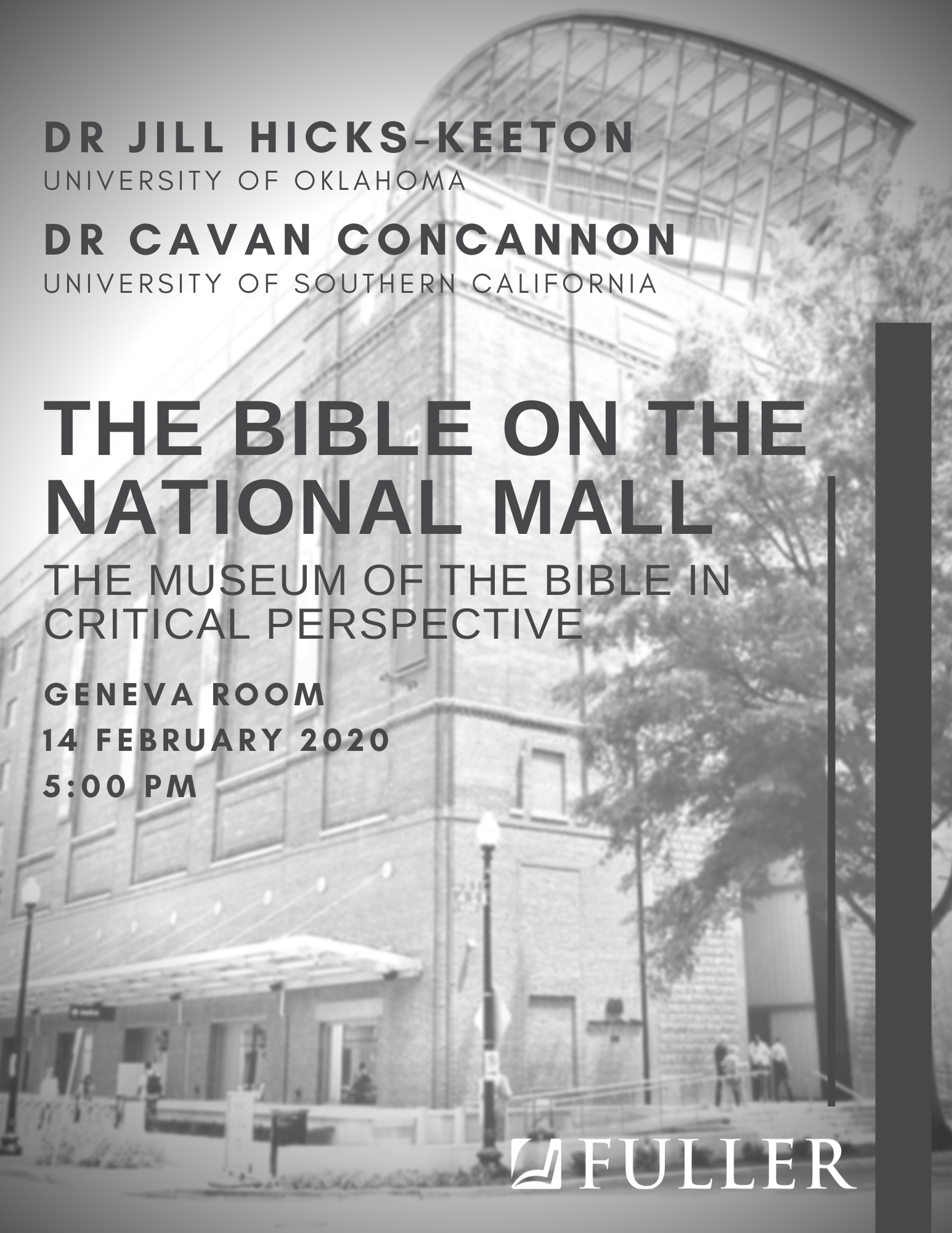 The Bible on the National Mall event flyer