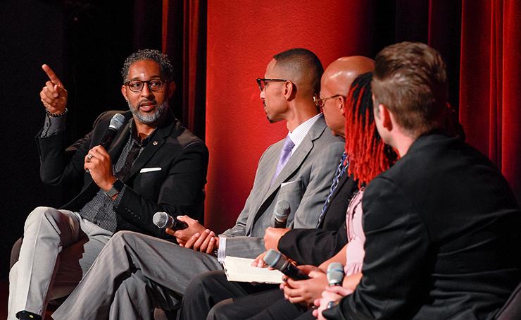 Dwight Radcliff speaking at 2020 MLK Celebration