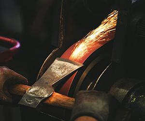 tempering an axe
