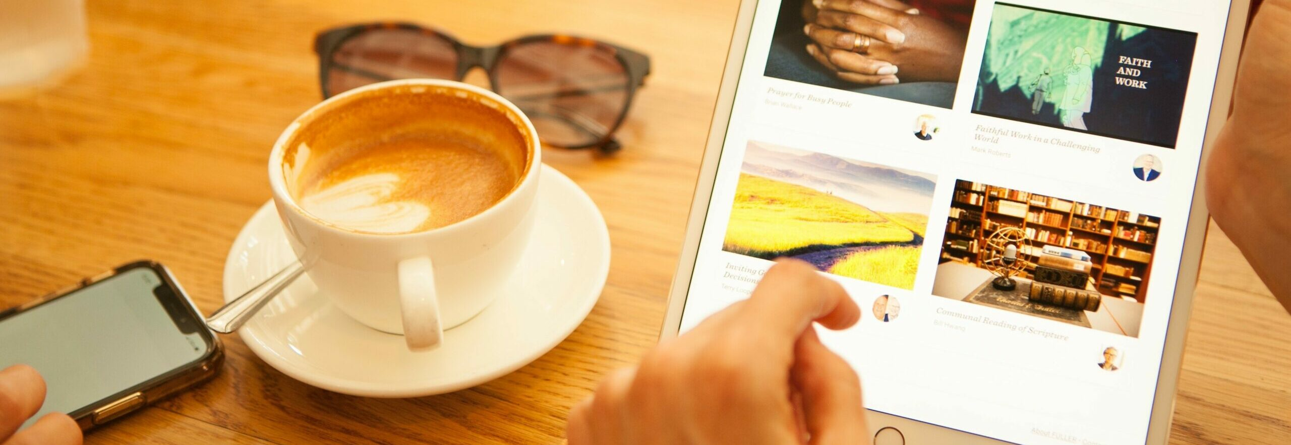 coffee and ipad