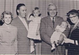 CEF & Grace Fuller - 006 - With son Daniel Fuller & wife Ruth and 2 grandchildren, c1950-1957